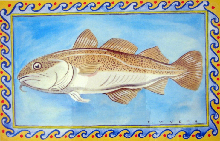 Ellie Wyeth, Place Mat - Cod Fish