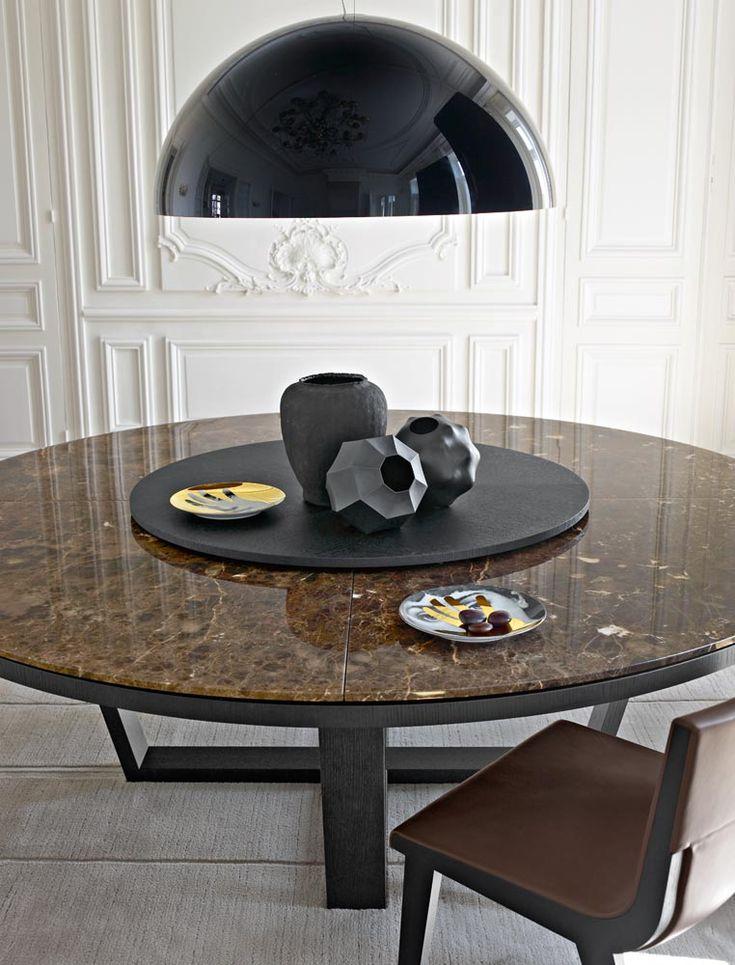 Tables XILOS Collection Maxalto Design Antonio Citterio Marble Top Dining TableDining