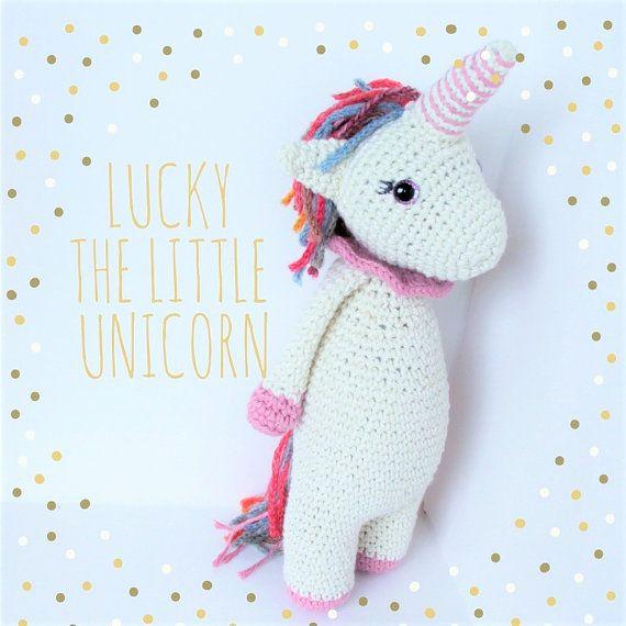Lucky the little Unicorn amigurumi cotton doll