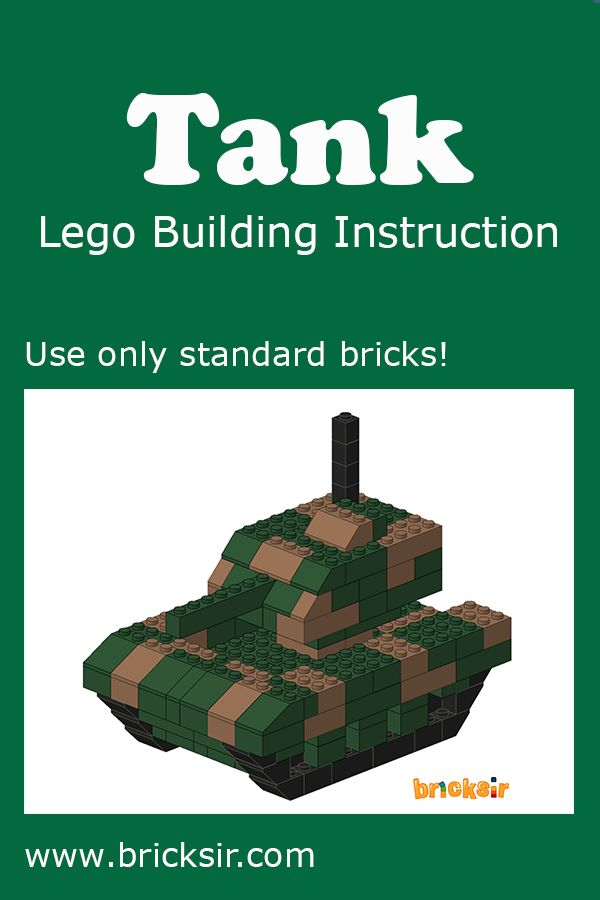 Build a tank with bricksir step by step lego building for How to build a brick house step by step pdf