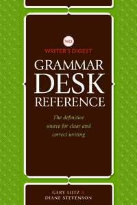 Click here to order the Writer's Digest Grammar Desk Reference Guide Fr 14th Nov 2014