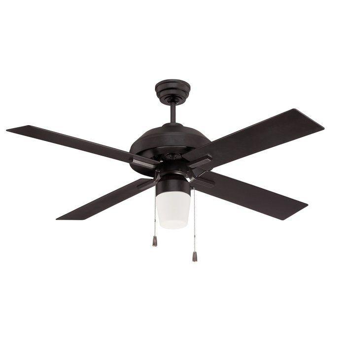 52 Fagundes 4 Blade Ceiling Fan Light Kit Included Black