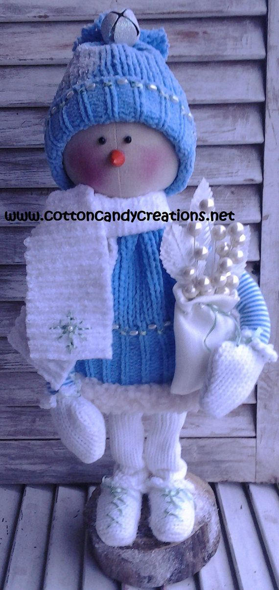 Christmas Primitive Winter Snow Girl by CCCPrimitives on Etsy, $32.00