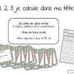 ateliers mathématiques: calcul mental: 1 2 3 je calcule dans ma tête
