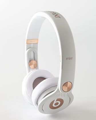Rose-Gold-Tone Beats On-Ear Headphones by Beats By Dr. Dre at Neiman Marcus.