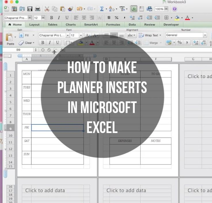 Finally! A tutorial on how I make my inserts! I usually use Microsoft Excel for my weekly pages. Stay tuned for a Microsoft Word and daily pages tutorial soo...