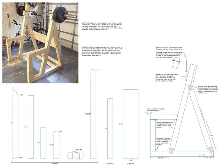 Diy wooden squat rack homemade all things and gym for How to make a homemade squat rack