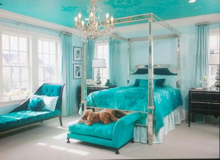 17 best images about paisley and blue on pinterest for Teal bedroom designs