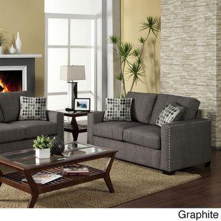 Perfect @Overstock.com.com   Wolver Nailhead Trim Sofa / Love Seat Set