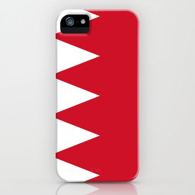 The flag of the Kingdom of Bahrain - Authentic version iPhone & iPod Case