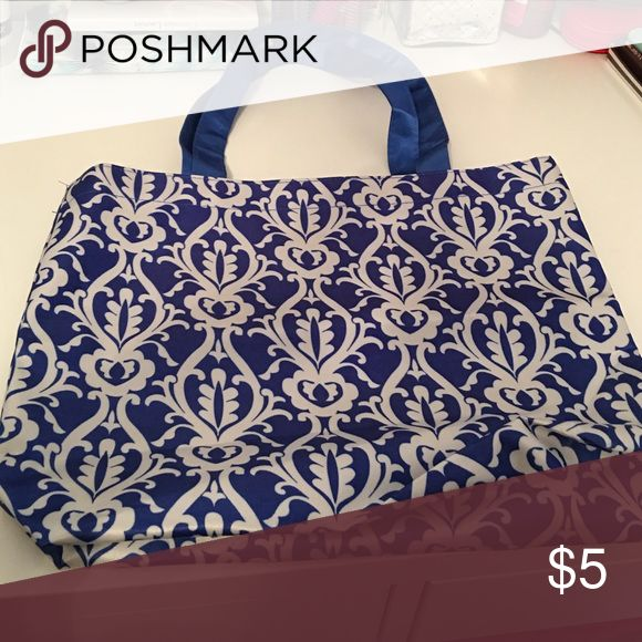 Small blue and white tote Small blue and white tote Bags Totes