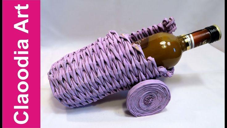 Armata na wino z papierowej wikliny (Cannon, wine basket, wicker paper)