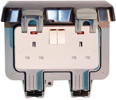 Weatherproof sockets and switches