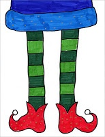 Art Projects for Kids: Symmetrical Elf Feet