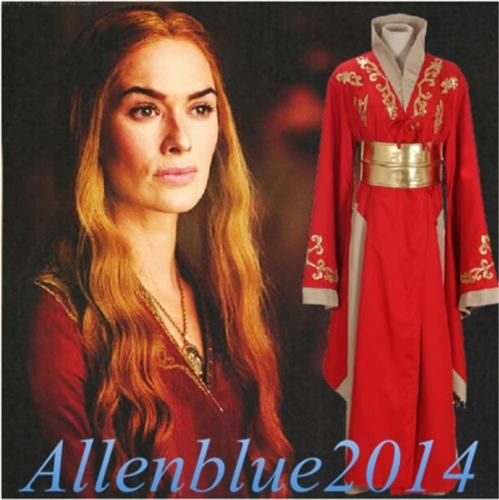 Game-Of-Thrones-Queen-Cersei-Lannister-Long-Dress-Red-Robe-Gown-Cosplay-Garment