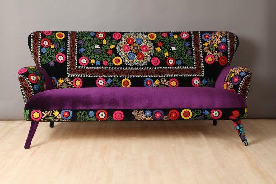 Suzani 3 seater sofa  winter by namedesignstudio on Etsy