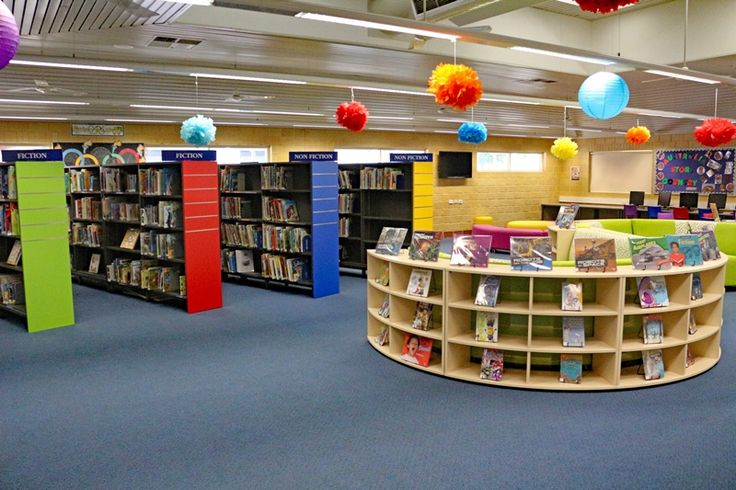 Millen Primary School's library is not only functional but is bright and beautiful