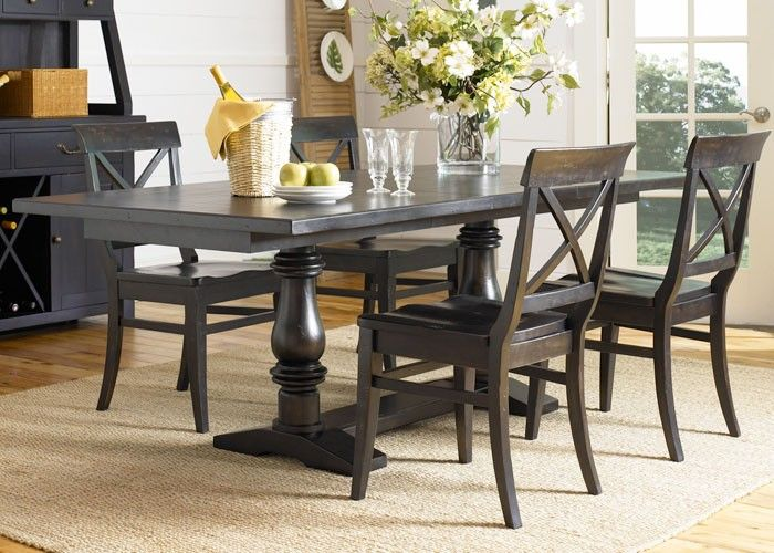 237 sundance lake trestle table set casual dining room raleigh furniture home comfort