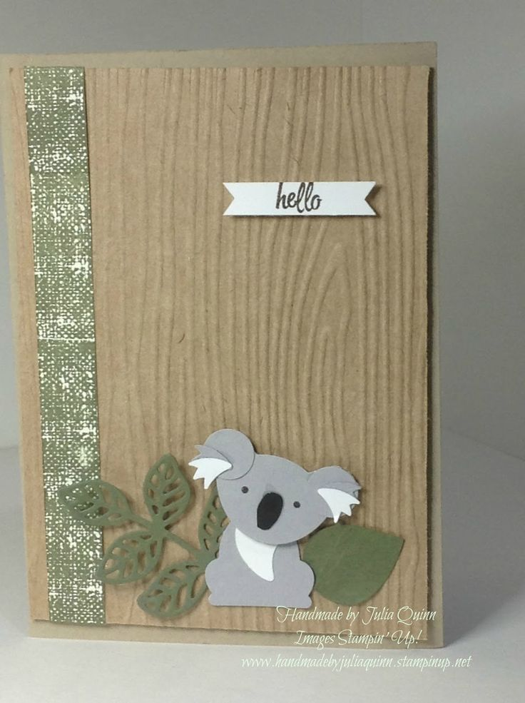 handmade by Julia Quinn - Independent Stampin' Up! Demonstrator: Hello Little Koala - from Foxy Friends