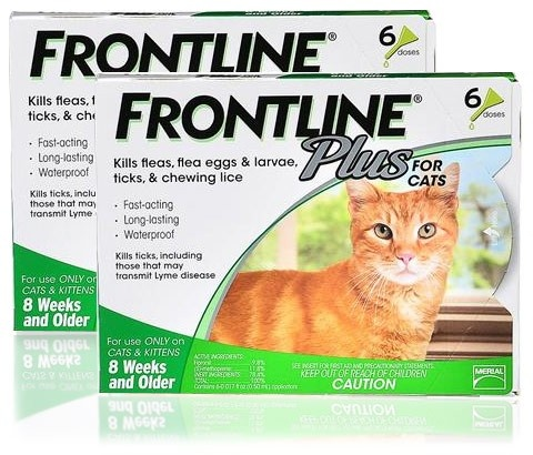 Frontline Plus for Cats kills 98–100% of existing fleas in less than 24 hours. Frontline PLUS for cats is also gentle enough for use on kittens. It provides your cat with the most complete spot-on flea and tick protection available. In addition to killing 98-100% of adult fleas on your cat within 24 hours, Frontline Plus contains a special ingredient that kills flea eggs and larvae, too, and keeps all stages of fleas from developing.