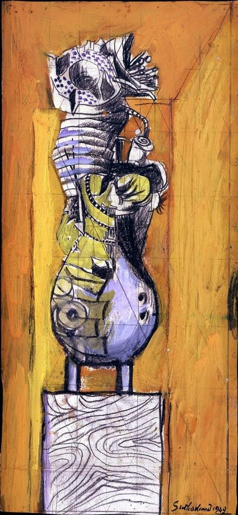 Standing Form, Orange Background, 1949 – Graham Sutherland