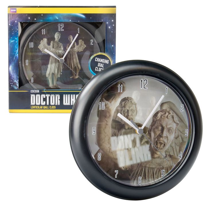 Doctor Who Wall Clock - Weeping Angel - Don't Blink Transitional Clock Face
