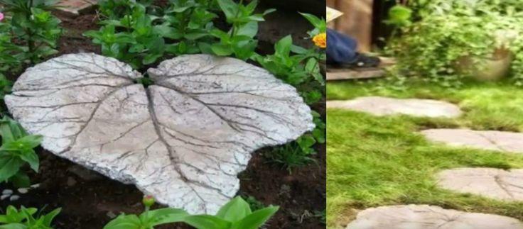 Camino con forma de hojas para el jardín: precioso, económico y SUPERFÁCIL