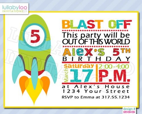 132 best Kids Party Ideas images – Rocket Ship Birthday Invitations
