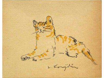 Autre chat de Léonard-Tsuguharu Foujita (1886-1968) (Maison atelier de Villiers-le-Bâcle).