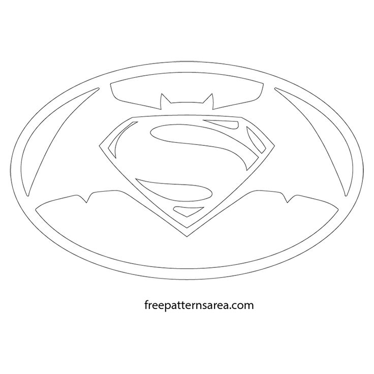 Batman vs Superman Sign Logo Cutting Pattern