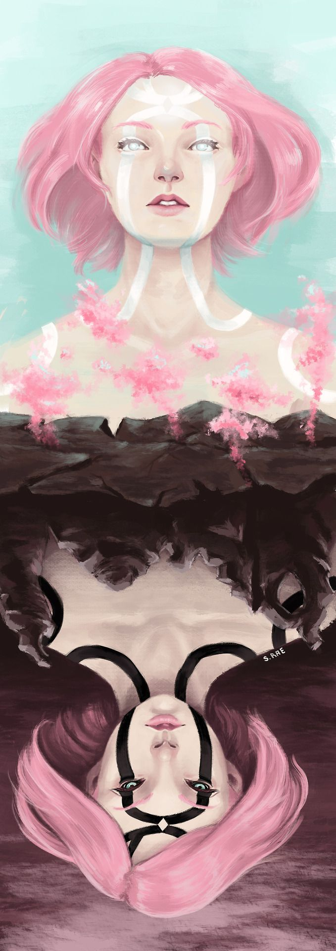 Sakura's byakugou by yourturntowatchmyback on tumblr