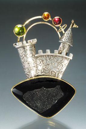 Yumi Ueno Art Jewelry & Metal : Citrine, drusy agate...