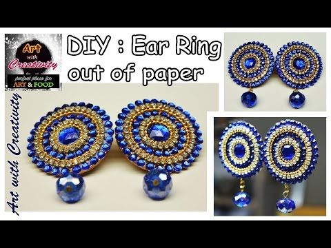 How To Assemble Diamond Shaped Beaded Earrings - DIY Style Tutorial - Guidecentral - YouTube