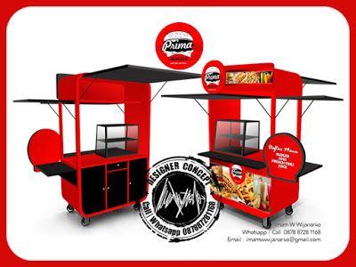 Desain dan Produksi Gerobak: Desain Gerobak Prima Burger