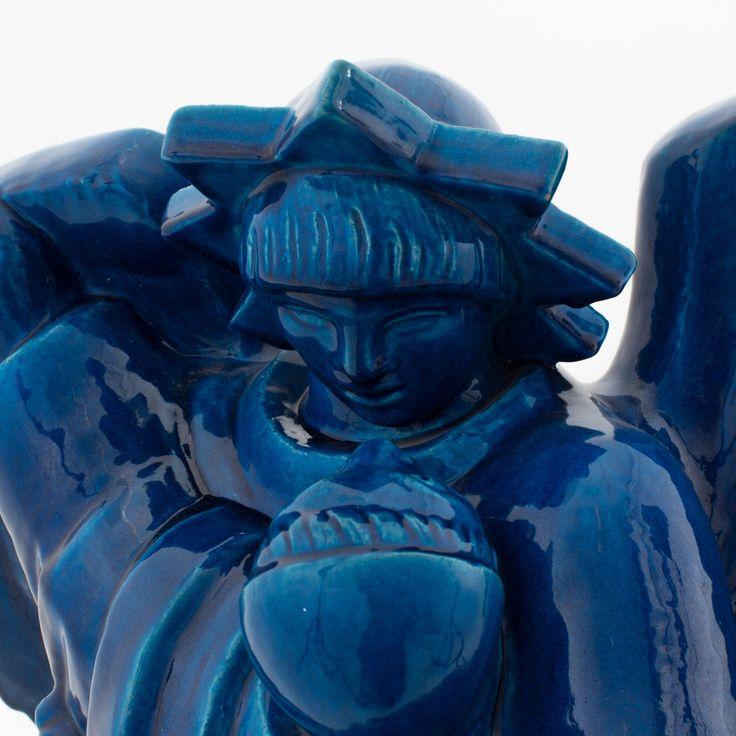 Figure in stoneware