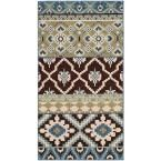 Veranda Chocolate/Blue (Brown/Blue) 2 ft. 7 in. x 5 ft. Indoor/Outdoor Area Rug
