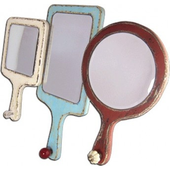 'Mirror Mirror on the Wall' Mirror and Hooks