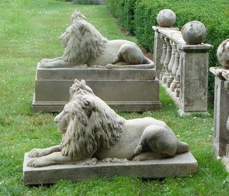 THE WELL APPOINTED HOUSE - Luxury Home Decor- Lion of Hadrian Garden Statues
