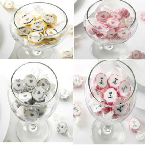 New-wedding-just-married-Mr-Mrs-candy-buffet-table-cart-sweets-approx-50-pieces