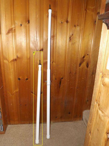 DIY telescoping PVC tarp poles for camping