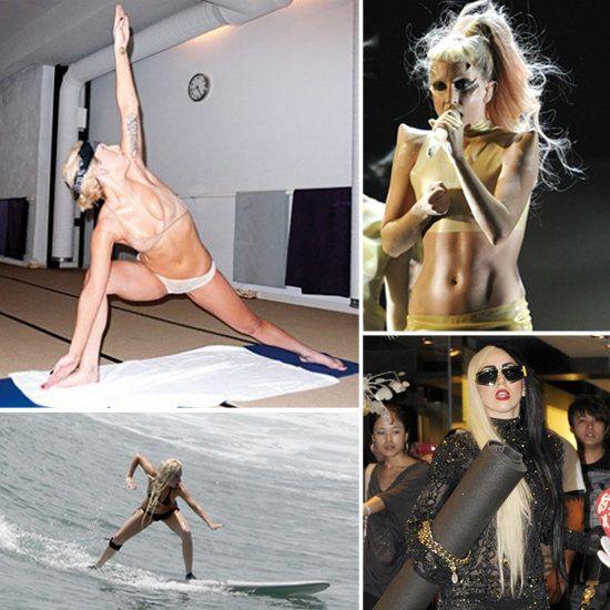 how lady gaga keeps healthy.