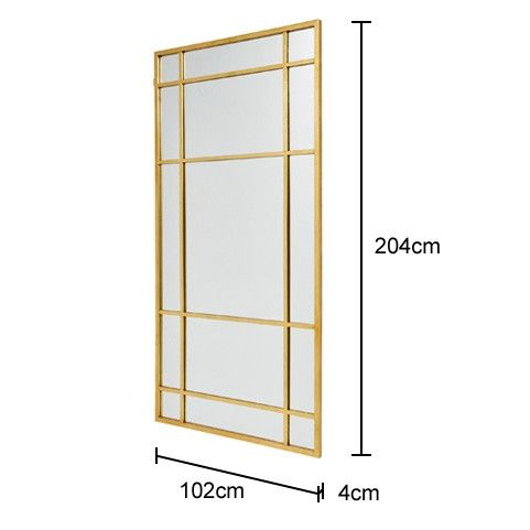 520 Extra Large Wall Mirror in Gold