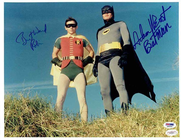 Batman Cast Adam West and Burt Ward Signed 11x14 Photo Certified Authentic PSA/DNA JSA COA