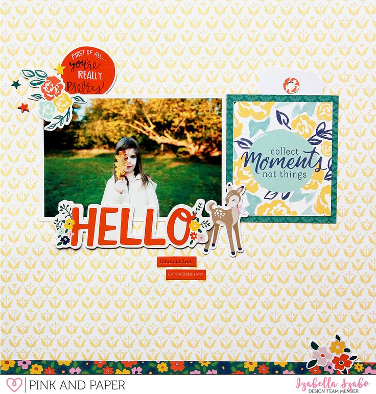 Autumn Layout with Dear Lizzy Star Gazer
