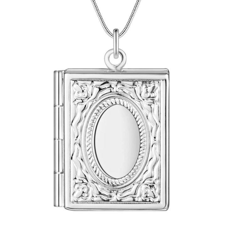 Оптовая посеребренные шарм jewelrys Ожерелье, бесплатная доставка 925 штампованные ювелирные изделия кулон книга AN739купить в магазине super jewelry storeнаAliExpress
