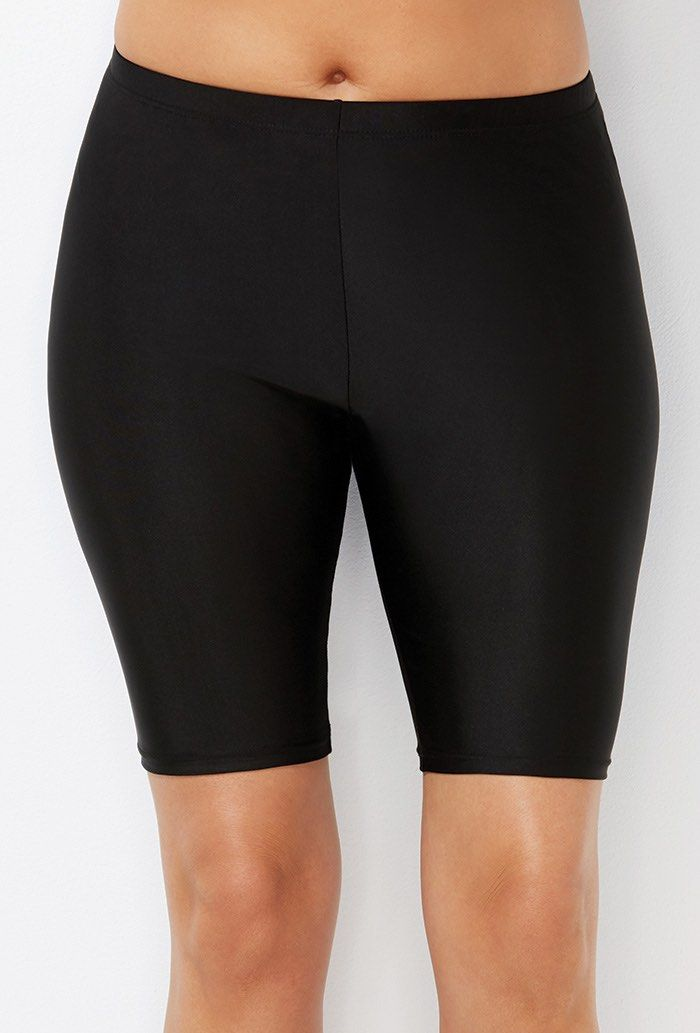 74a3580bf7 Buy Chlorine Resistant Black Long Bike Short at SwimSuitsForAll.com. Easy  returns and exchanges. Check out our special swimsuit sale of the day!
