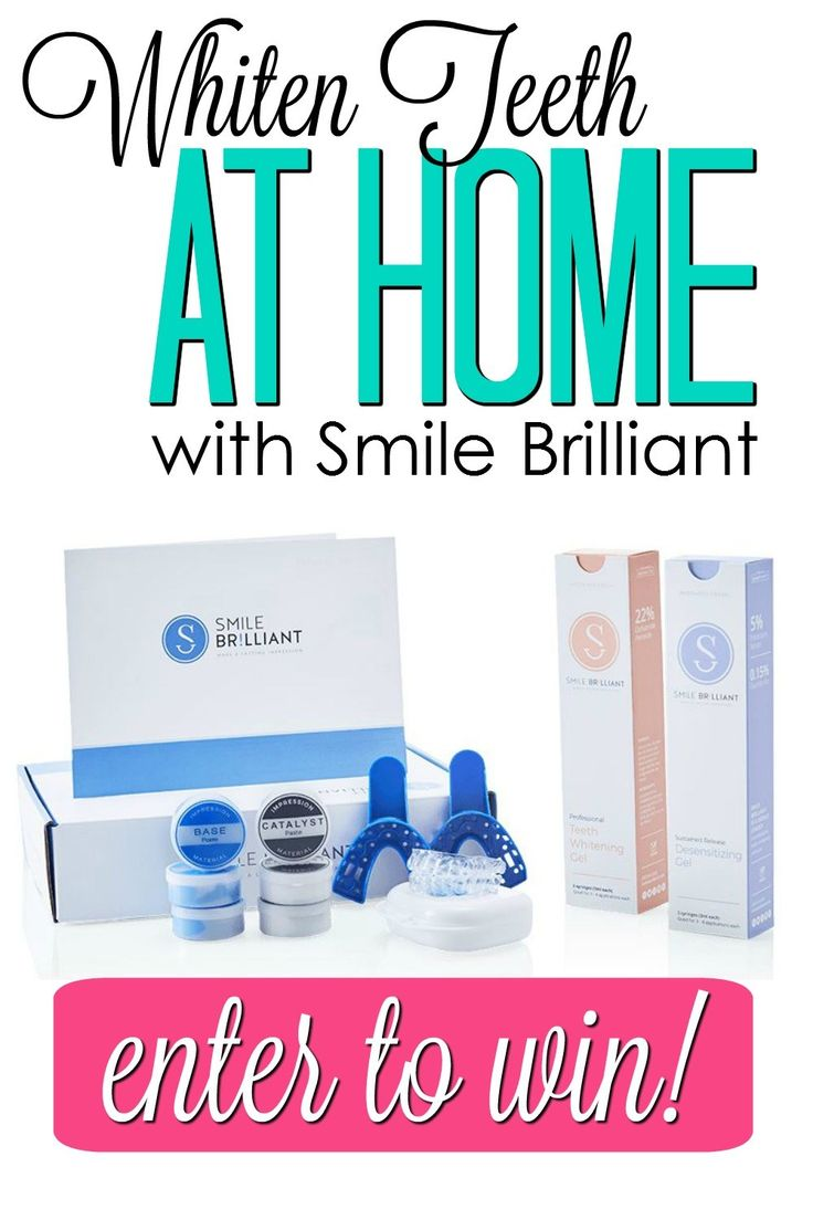 Whiten teeth at home with Smile Brilliant!