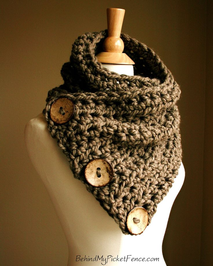 New BOSTON HARBOR SCARF  - Warm, soft & stylish scarf with 3 large coconut buttons - Other colors available. $69.00, via Etsy.
