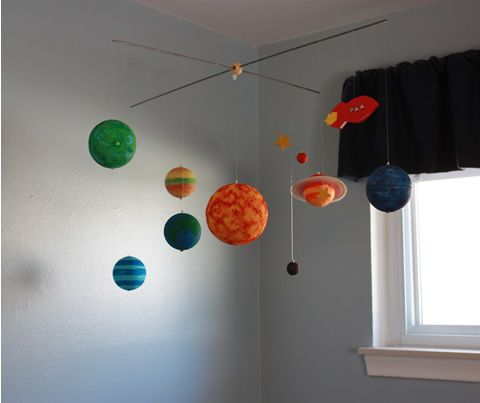 Another Styrofoam Ball Solar System Mobile Kid Fun