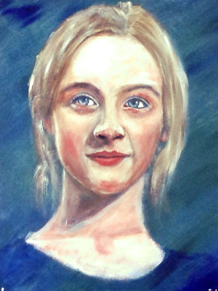 Saoirse Ronan, Irish actress, a few years ago. Acrylic on paper